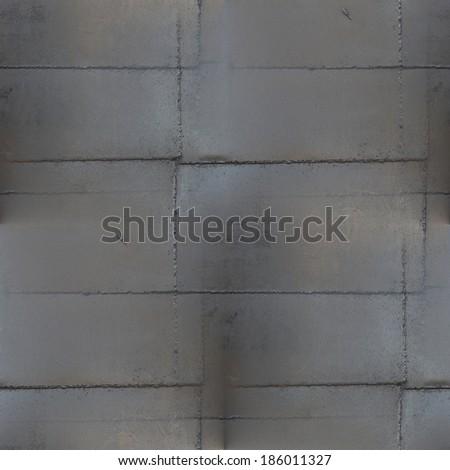 black metal welding seam pattern grunge brown rust seamless background texture - stock photo