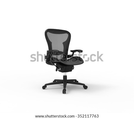 Black Modern Office Chair - stock photo