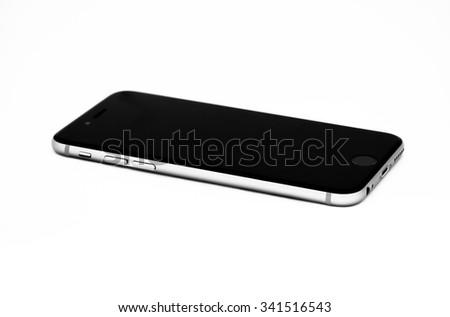 Black modern smartphone. - stock photo