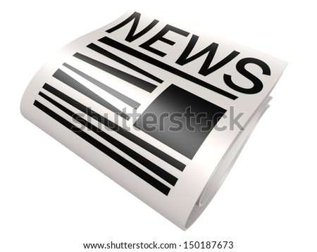 Black new paper - stock photo