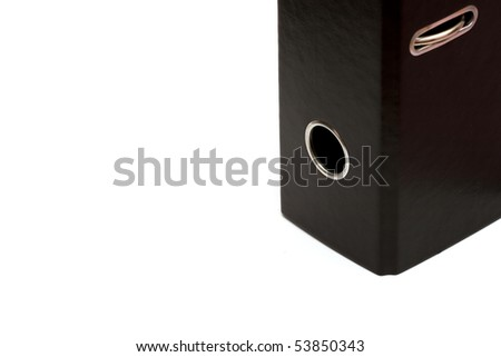 black office folder - stock photo
