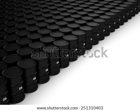 Black oil barrels - stock photo