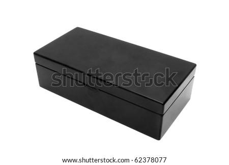 black old box isolated on white background - stock photo