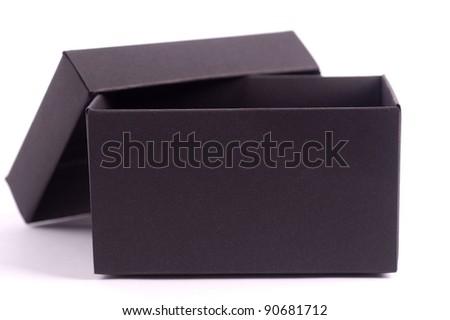 Black open box - stock photo