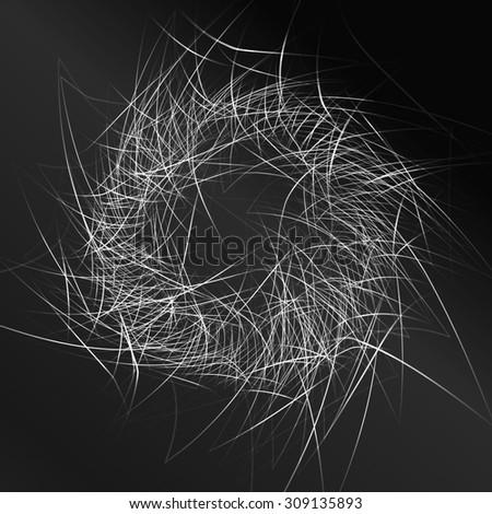 black pattern background. grey techno background. Raster version - stock photo