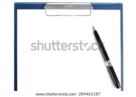 black pen and notebook. Business concept - stock photo