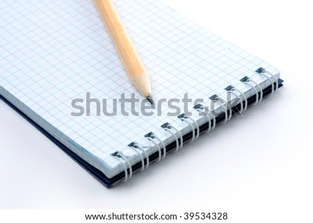 Black pen with note book - stock photo