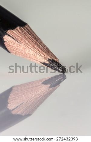 Black pencil reflex close up  - stock photo