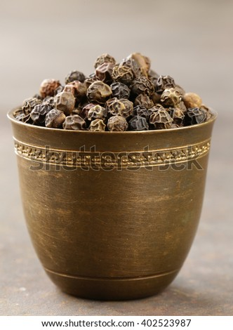 black pepper spices traditional and flavorful seasoning for food - stock photo