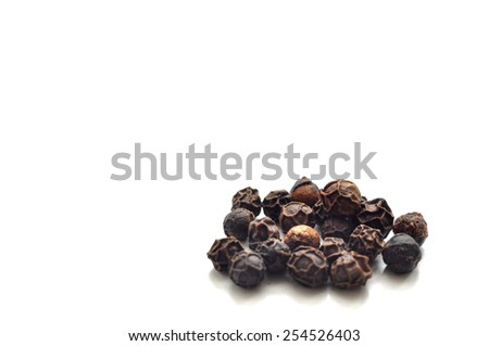 Black Peppercorns Macro shot of black peppercorns - stock photo