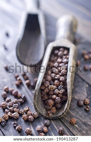 black peppers - stock photo
