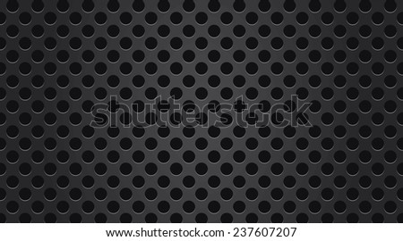 Black perforated metal texture - stock photo