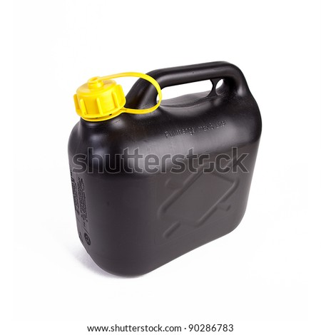 Black petrol canister - stock photo