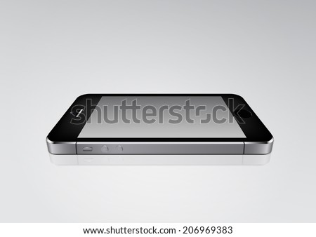black phone on the plane mockup - stock photo