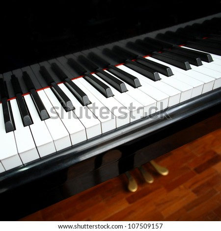 black piano. - stock photo