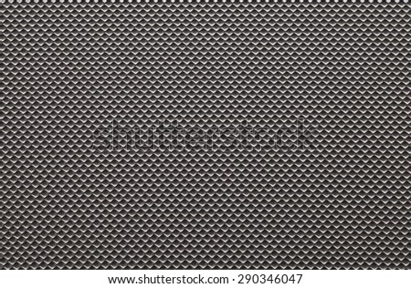 Black plastic material seamless background and texture - stock photo