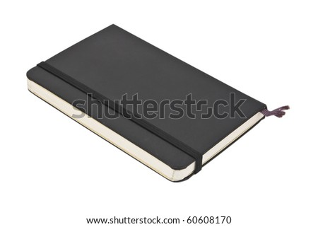 Black pocket journal - stock photo