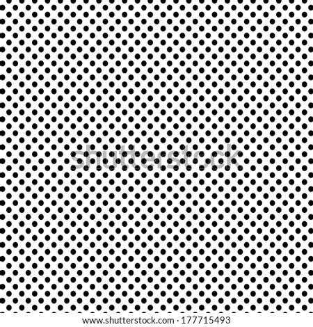 Black polka dots pattern background - stock photo
