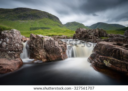 Black Pools, Glen Etive, Scotland - stock photo