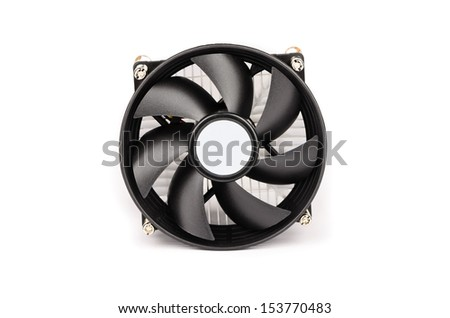 Black propeller with screws on a white background - stock photo