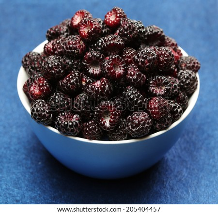 Black raspberry. Sort Cumberland - stock photo