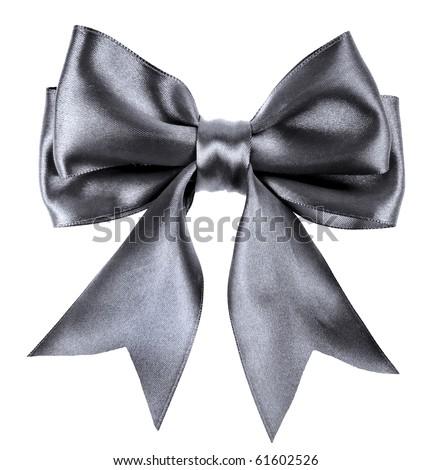 Black Ribbon Bow Black-bow Stock Photos...