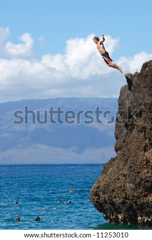 Black Rock Jumper - stock photo