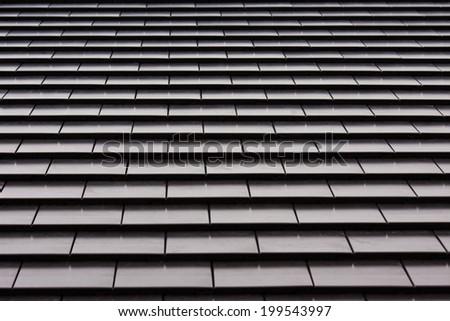 black roof pattern - stock photo