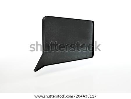 black school board as speech bubble - stock photo