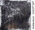 black scratched grunge background - stock photo