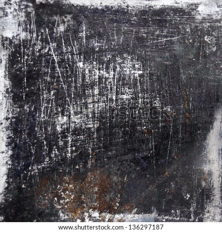 black scratched grunge background - stock photo
