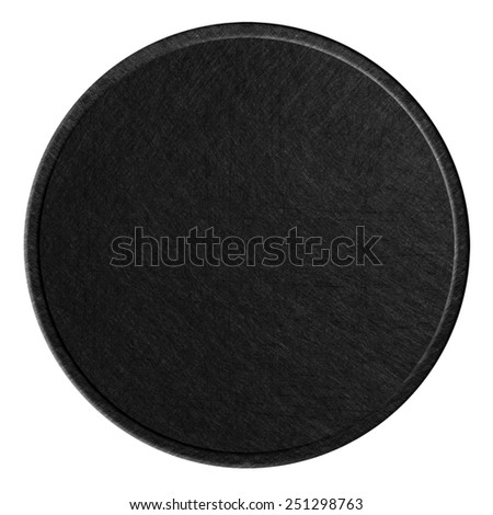 black scratched round metal plate texture background - stock photo