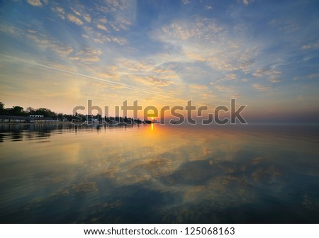 Black Sea, Crimea, Ukraine - stock photo