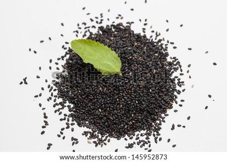 Black Sesame - stock photo