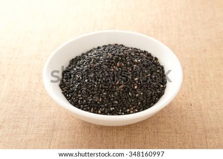 black sesame seed - stock photo
