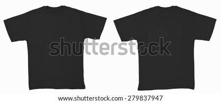 Black shirt isolated on white - stock photo