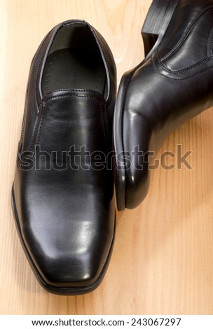 Black shoes - stock photo