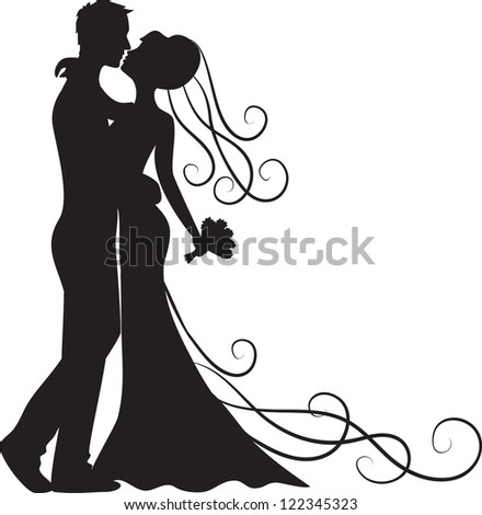 Bride And Groom Silhouette Stock Photos, Images ...