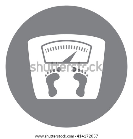 Black Simple Circle Weight Scale Infographics Flat Icon, Sign Isolated on White Background - stock photo