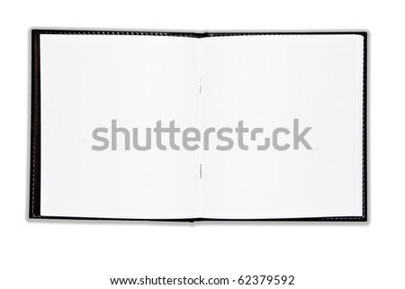 Black Sketch book open - stock photo