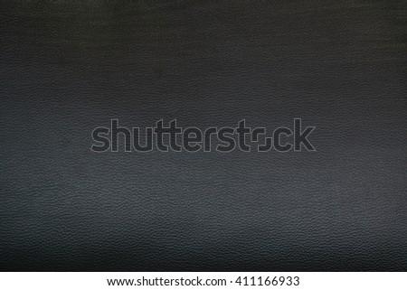black skin texture of sofa - stock photo
