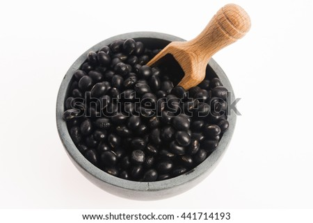 black soya beans - stock photo