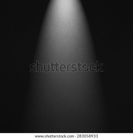 black spotlight background with white light. Product display image. - stock photo