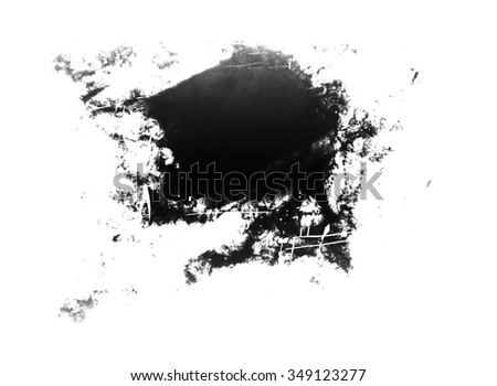 black stain - stock photo
