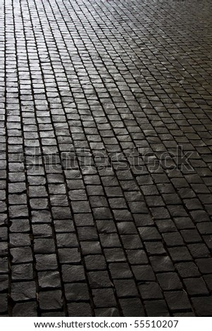 Black stone footpath - stock photo