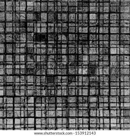 black stone squared network - stock photo