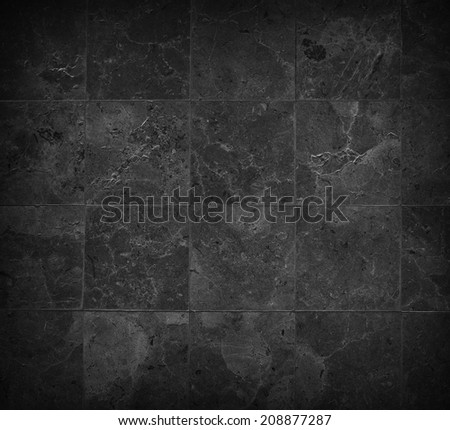 black stones tiled floor - stock photo