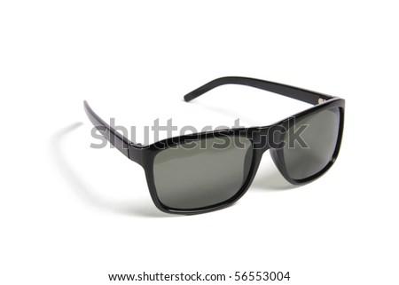 black sunglasses - stock photo