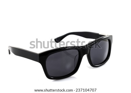 Black sunglasses isolated on a white background - stock photo