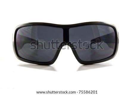 Black sunglasses isolated on white - stock photo